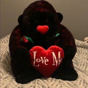 Large Valentines Plush Gorilla 🦍 ❤️💋